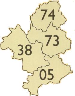 Isère, Hautes-Alpes, Savoie, Haute-Savoie